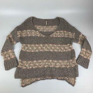 Free People Women's M Wool Blend Loose Chunky Knit